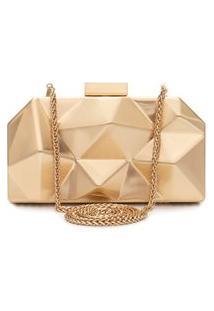 Bolsa Clutch Future Gold - Dourado