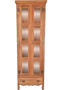 Armário Charuto Rústico Em Madeira De Demolição, 2 Portas, Peroba Rosa, 2M De Altura