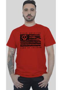 Camiseta Bleed American Land Of Freedom Vermelha