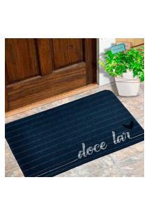 Capacho Carpet Doce Lar Azul Único Love Decor
