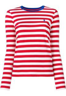 Polo Ralph Lauren Camiseta Listrada Mangas Longas - Vermelho 87d8cc5bfae08