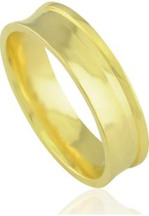 Aliança Neo Joalheiros Casamento Trabalhada Em Ouro 18K Belize Unissex - Unissex-Dourado