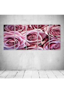 Quadro Decorativo - Roses - Composto De 5 Quadros - Multicolorido - Dafiti