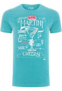 Camiseta Masculina Martini - Verde