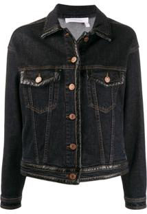 See By Chloé Slim-Fit Denim Jacket - Azul