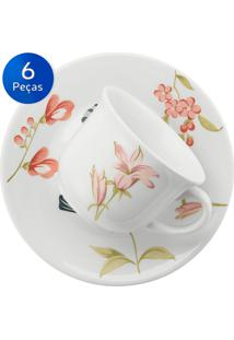 Conjunto Xícaras De Chá 06 Peças May - Biona Cerâmica - Colorido