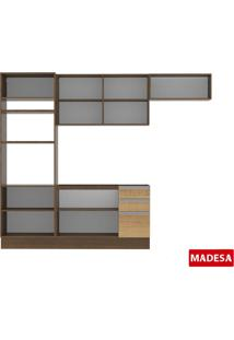Cozinha Compacta Madesa Glay 4 Peças Rustic/Saara