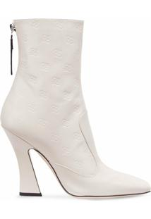 Fendi Ankle Boot Tronchetto - Branco