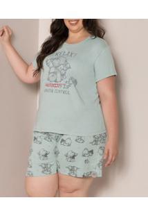 Pijama Curto Estampado Pzama (90020) Plus Size