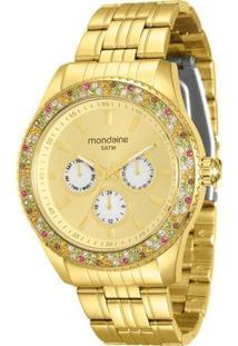 Relógio Mondaine Feminino - Feminino-Dourado
