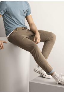 Calça Skinny Masculina Em Algodão