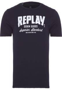 Camiseta Masculina Denim Goods - Preto