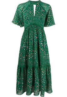 Three Floor Vestido Constantine Com Decote Em Gota - Verde