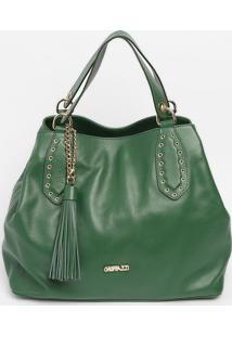 Bolsa Saco Com Ilhoses - Verde Escuro- 27X32X16Cm Griffazzi