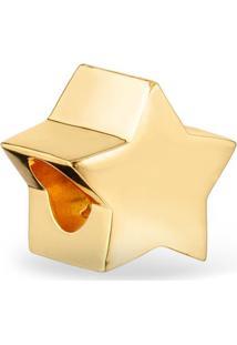 Pingente Life Estrela Com Banho Ouro Amarelo