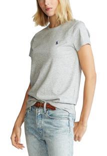 Camiseta Polo Ralph Lauren Lisa Cinza