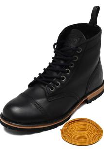 Bota Couro Mcd Beckman Boots Preto