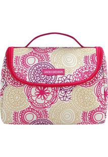 Bolsa Térmica Com Alça- Amarelo Claro & Pink- 16X22Xjacki Design
