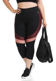 Calça Corsário Plus Size Nz Emotion Cajubrasil Feminina - Feminino
