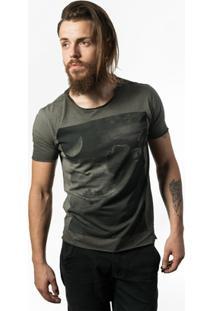 Camiseta Estonada Skull Lab Clouds - Masculino-Grafite