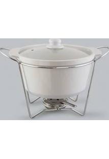 Rechaud Refratário Sopeira Redonda Bon Gourmet De Porcelana - 30383