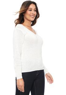 Suéter Mercatto Tricot Liso Branco