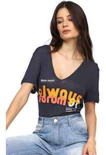 Camiseta Forum Lettering Azul-Marinho - Kanui