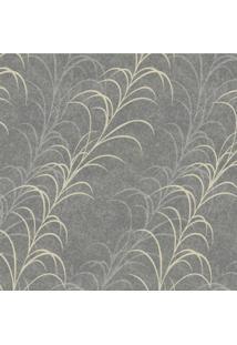 Papel De Parede Stickdecor Adesivo Floral Cinza 3Mt A 1,00Mt L