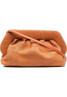 Themoirè Bios Raffia Clutch Bag - Laranja