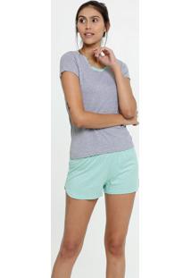 Pijama Feminino Estampa Bolinhas Manga Curta