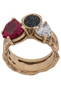 Voodoo Jewels Anel Com Pedra - Dourado