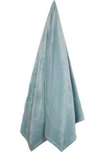 Cobertor Velour Queen Size- Verde ÁGua- 220X240Cm