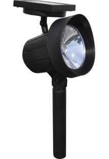 Luminária De Jardim Solar Ecoforce Spot Super Led, Verde - 13840Vd