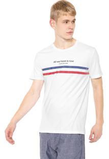 Camiseta Calvin Klein Jeans Listras Branca