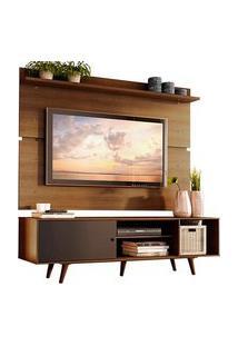 Rack Madesa Dubai E Painel Para Tv Até 65 Polegadas Com Pés Rustic/Preto 7K5Z Preto