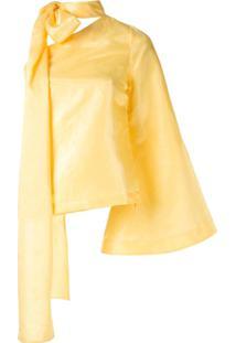 Taller Marmo Blusa Sant Ferran Com Detalhe De Laço - Amarelo