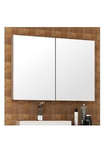 Espelheira Para Banheiro Malbec 2 Portas Bosi Barrique E Branco