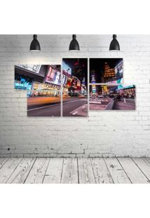 Quadro Decorativo - New-York-Times-Square - Composto De 5 Quadros - Multicolorido - Dafiti