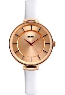 Relógio Skmei Analógico 1184 Branco
