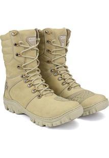 Bota Sapato Fran Coturno Cano Baixo Masculino - Masculino-Creme