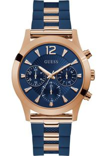 Relógio Guess Feminino Borracha Azul - W1294L2
