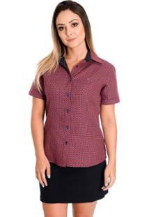 Camisa Manga Curta Rosa feminina  828fcaa52b09c