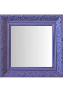 Espelho Moldura Rococó Fundo 16443 Lilás Art Shop