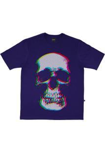 Camiseta Alkary Caveira Cromia Roxa