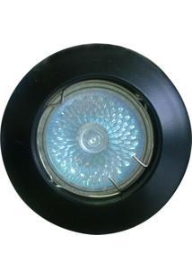 Spot Dicróica Fixo Zamac Mr16 50W 127V Preto