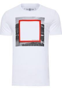 Camiseta Masculina Estampa Em Gel - Branco
