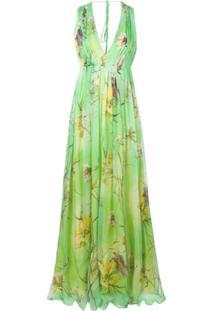 0747b2b28 R$ 21694,00. Farfetch Blumarine Vestido De Festa Floral ...