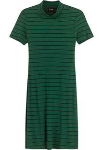 Vestido Verde Curto Canelado