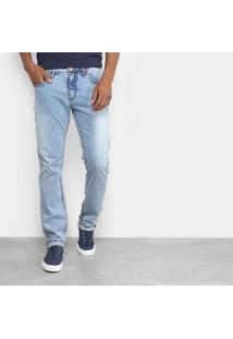 Calça Jeans Slim Forum Lavagem Clara Paul Masculina - Masculino