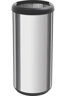 Lixeira Inox 40L Cápsula Selecta Plus Preto 94539220 Tramontina